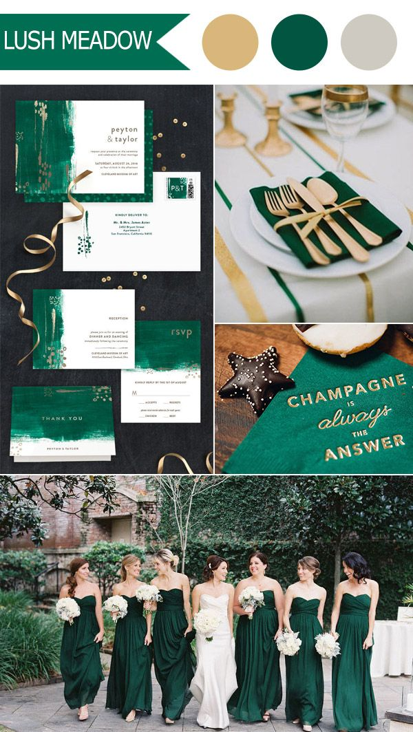 emerald green lush meadow 2016 fall wedding colors by pantone