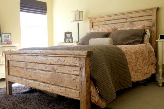 Reclaimed Wood Headboard Queen - WoodWorking Projects & Plans