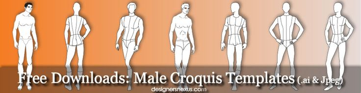 17 best images about free male fashion croquis templates for Fashion designing templates free download