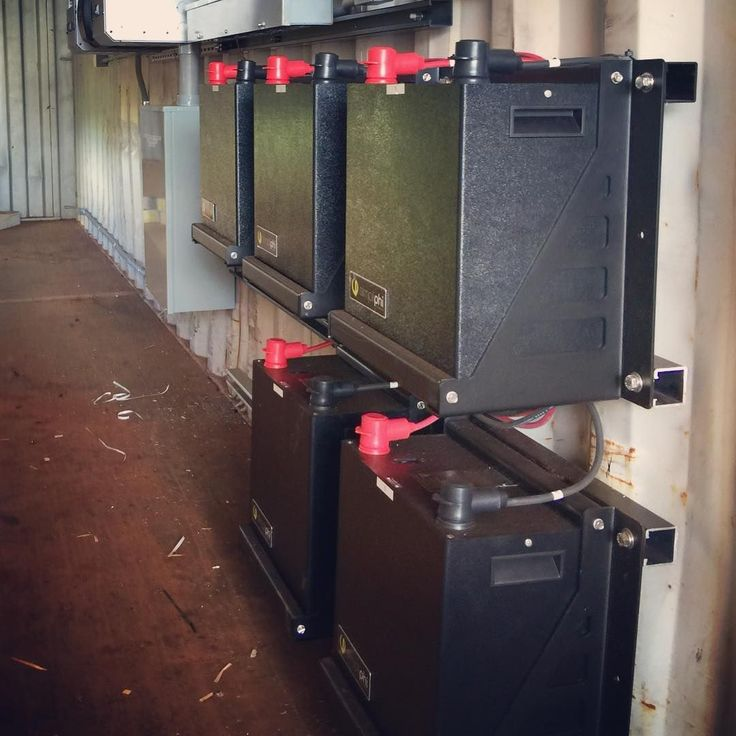 This 17 Kwh Non Flammable Lfp Battery Bank And Outback Flexpower Inverter Provides Power To An O Solar Battery Bank Atmospheric Water Generator Water Generator