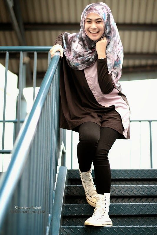 Hijab style   Casual with sneaker