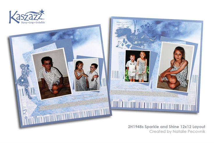 2H1948s Sparkle and Shine 12x12 Layout