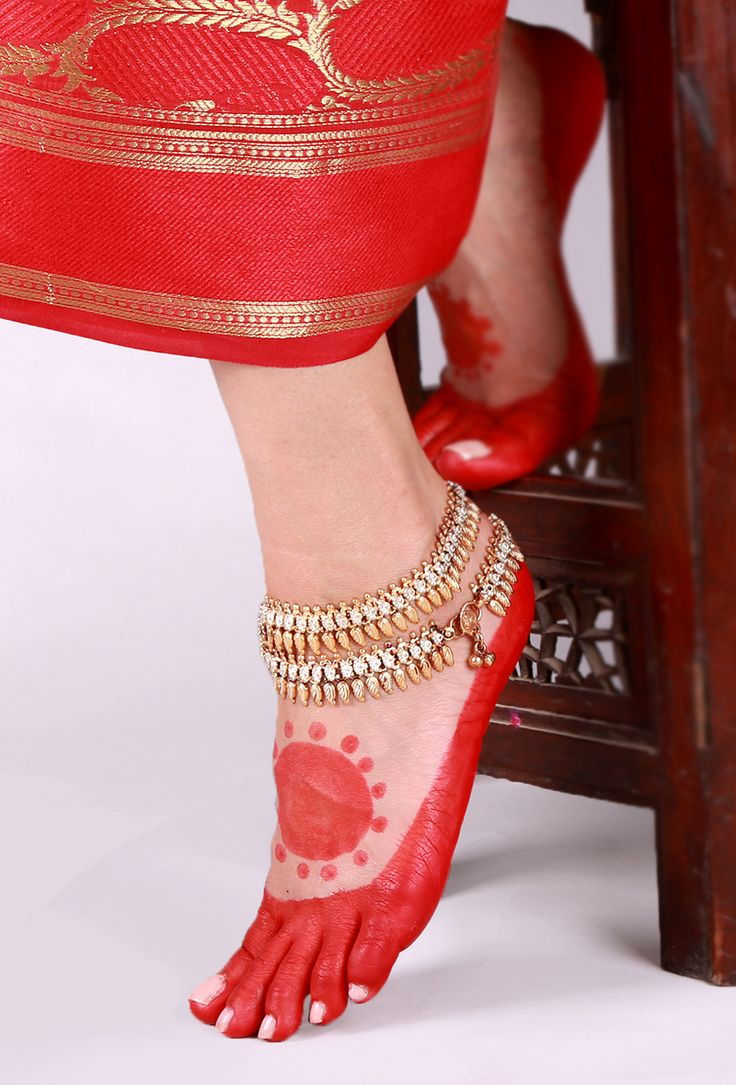 Dual Tone Lambani Anklet Traditionally, the Lambani women folk wear jewelry made out of copper, white metal and silver. Trying to revive the traditional lambani jewelry we have curated a collection of 22 carat gold and silver plated anklets