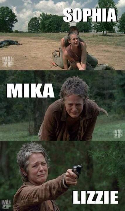 """Poor Carol. First she loses her daughter then her two """"adoptive daughters"""". I don't know how much more this tough, fighting woman can handle. The Walking Dead"""