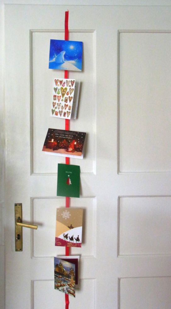 #Weihnachtskarten am #Schleifenband