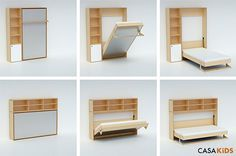 Murphy Bed for Kids by Casa Kids- folds into a cabinet only 12 deep!