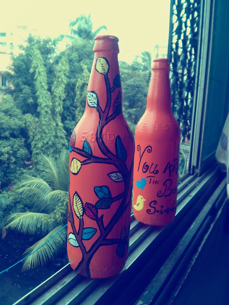 Sisters Day gift idea by fitoori #recycled #winebottles #gift