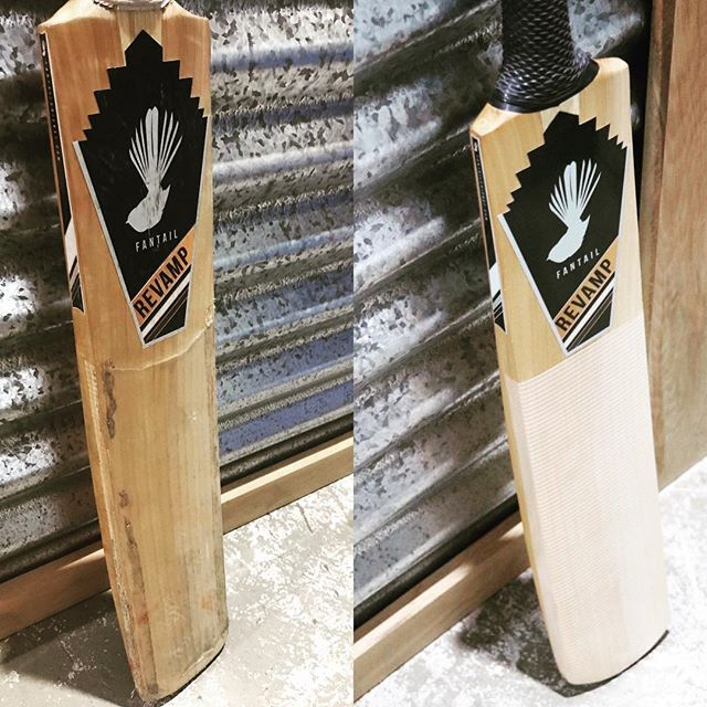 Another #cricket #bat #refurbishment complete in the #fantailcricket #workshop