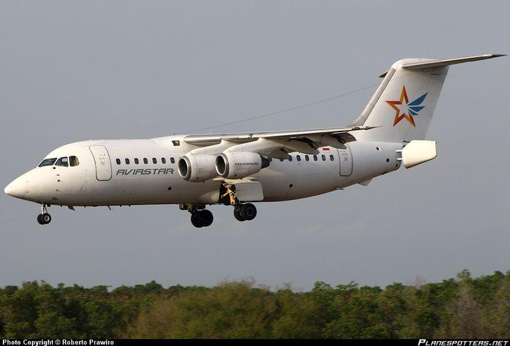 the airline Aviastar aircraft landed at the airport Marinda - Raja Ampat