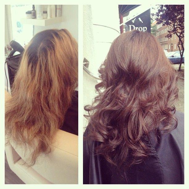 Fint bidrag från @Salong Din Stund  Nu börjar höstfärgningarna komma igång! Pamela fick en mörkare varm färg och slipper utväxten ;) superläckert! by Golly emoji Ring och boka din tid på 040-122828 #salongdinstund #dinstund #frisörsalong #frisör #malmö #gollyzargari #zargarii #marianila #marianilastockholm #haircolor #hårfärg #stylist #longhair #brunette