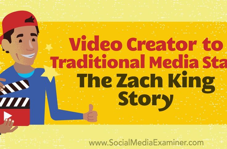 Video Creator to Traditional Media Star: The Zach King Story http://www.charlesmilander.com/news/2017/12/video-creator-to-traditional-media-star-the-zach-king-story/ Start making money online. http://amzn.to/2hGcMDx