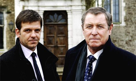 """John Nettles and Jason Hughes in """"Midsomer Murders"""" another British offerring"""
