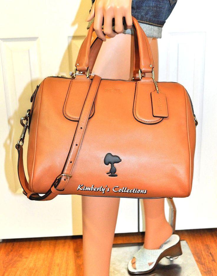 COACH X Peanuts SNOOPY LIMITED EDITION Leather Surrey Crossbody Satchel Bag NWT  #Coach #SatchelCrossBody