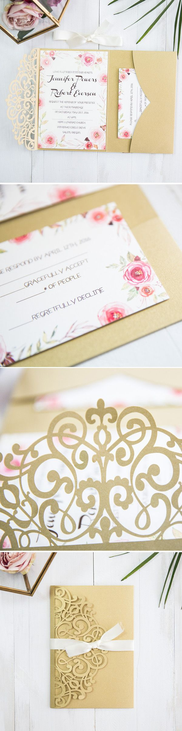 84 best Gold Foil Wedding Invitations images on Pinterest ...