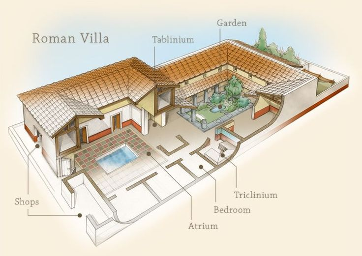 Brilliant 3D animations showcase the internal layout of the ancient Roman  domus (house),