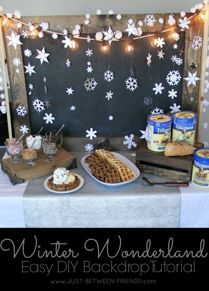 If you are thinking of throwing a winter wonderland party, I have the perfect thing! This winter wonderland backdrop will be the perfect addition!