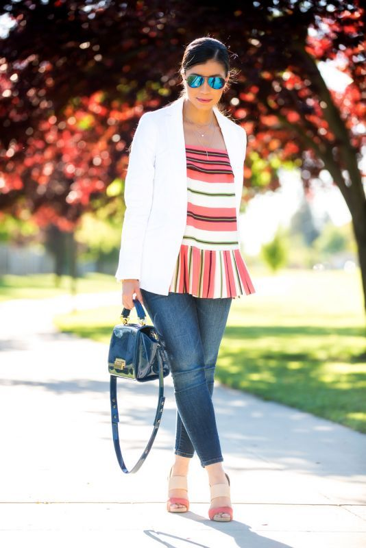 white blazer outfit - visit stylishlyme.com to read some tips on how to wear a white blazer this spring