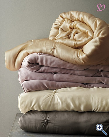 Eileen Fisher seasonless silk comforter. Swoon.