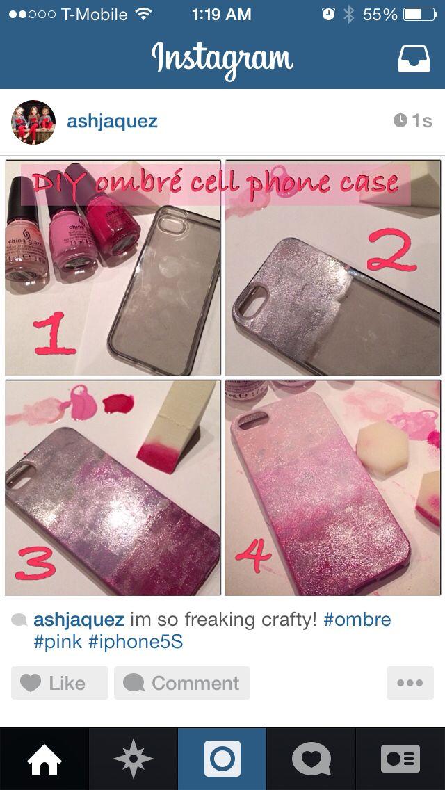 DIY ombré cell phone case #homemade #madebyme