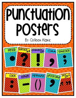 Punctuation Posters-Polka Dot Pizazz