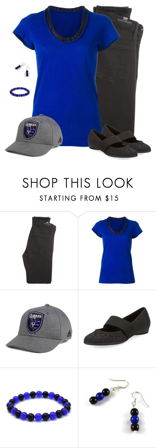 """""""San Jose Earthquakes - Game Day Style"""" by carriefdix ❤ liked on Polyvore featuring Citizens of Humanity, Sacai, adidas and Sesto Meucci"""