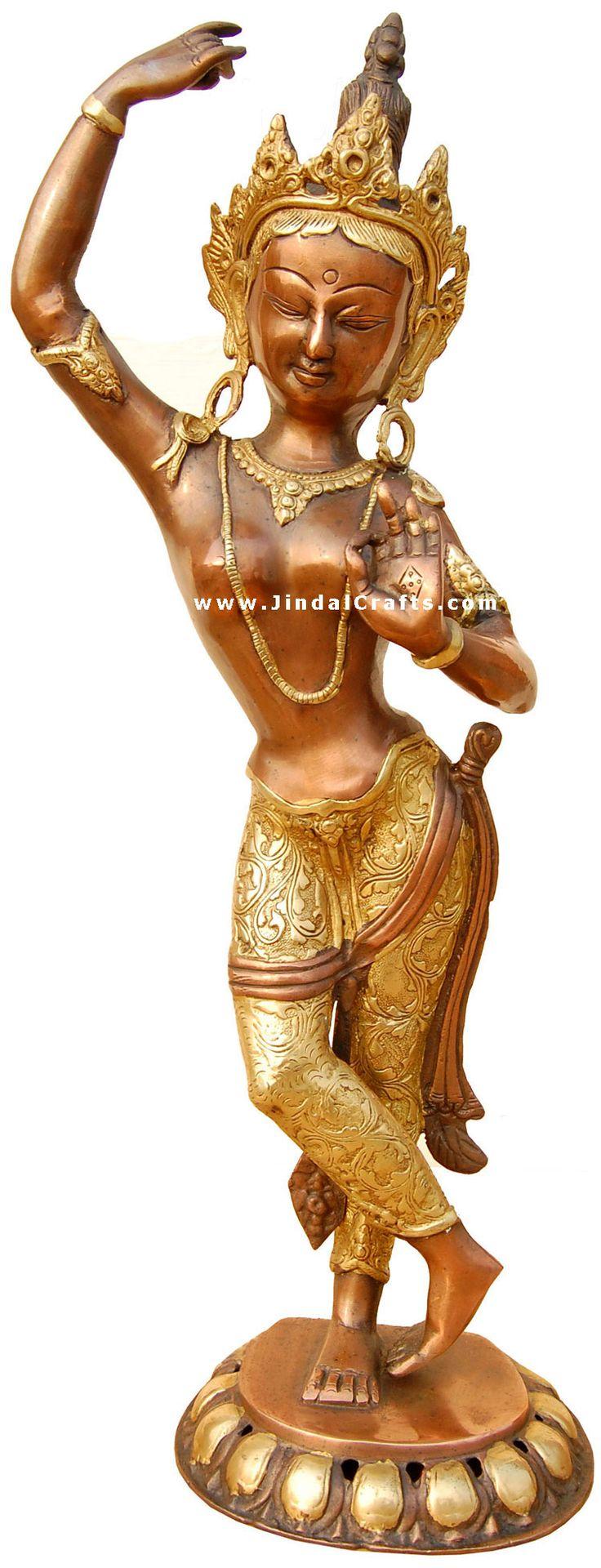 images buddist godess tara   Buddhist Goddess Tara Sculpture Statue Idol Antique Art Handmade Brass ...