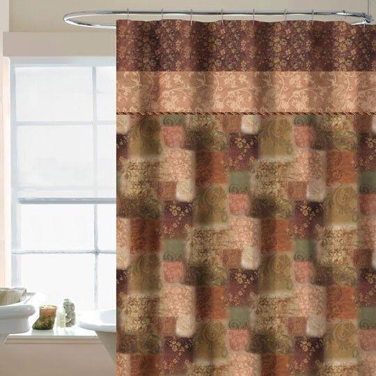 Fleur Fabric Shower Curtain Spice