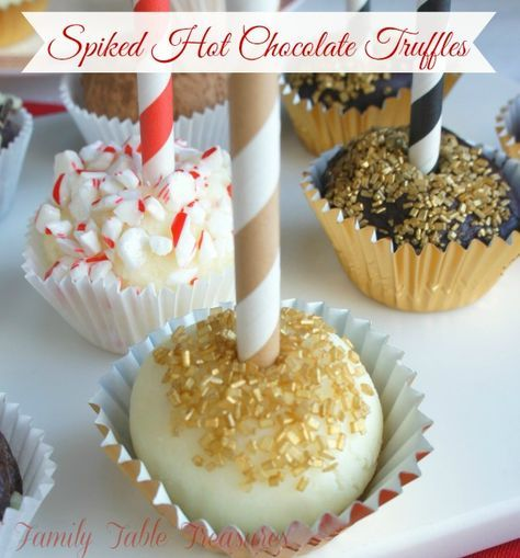 Spiked Hot Chocolate {Truffles} - Family Table Treasures