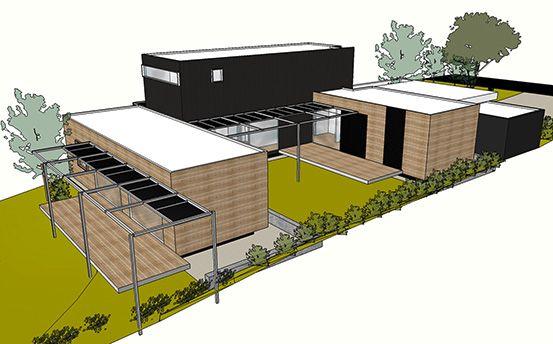 Prebuilt In Progress Prefabricated House - Aerial View Barwon Heads