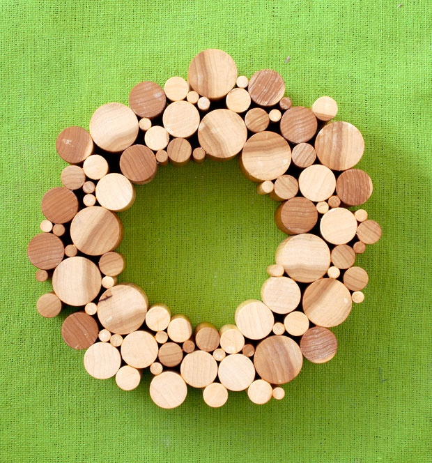188 best you made a wreath out of what images on for Wooden dowels for crafts
