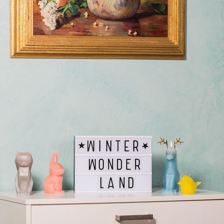 Winter Wonder Land Inspirierende Sprüche für die Weihnachtszeit. Schmücke Deine Wohnung mit Light Box, Letter Board oder Message Board für die Adventszeit. Interior Design Ideen für Groß und Klein.