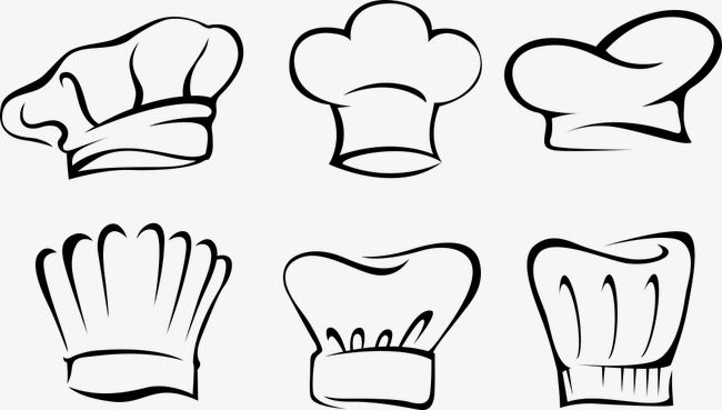 Vector White Chef Hat Png And Vector Chef Logo Line Doodles Painted Hats