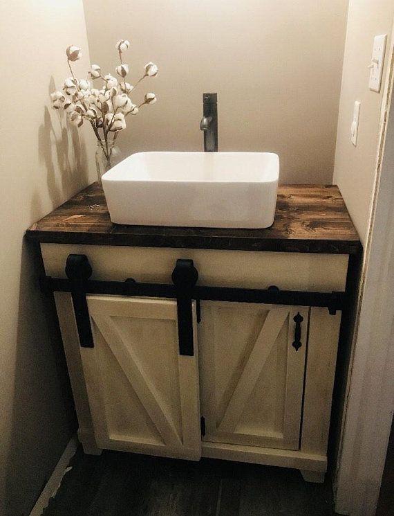 Sliding Barn Door Vanity In 2019 Rustic Bathroom Vanities Small Bathroom Vanities Bathroom