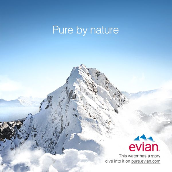 "marketing the glacier evian Bottled water: the biggest marketing scam of the century  evian, for example, have  pristine ""pure glacier"" quality,."