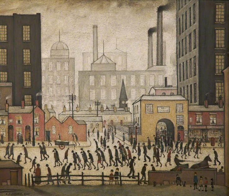 LS Lowry, Coming from the Mill, 1930