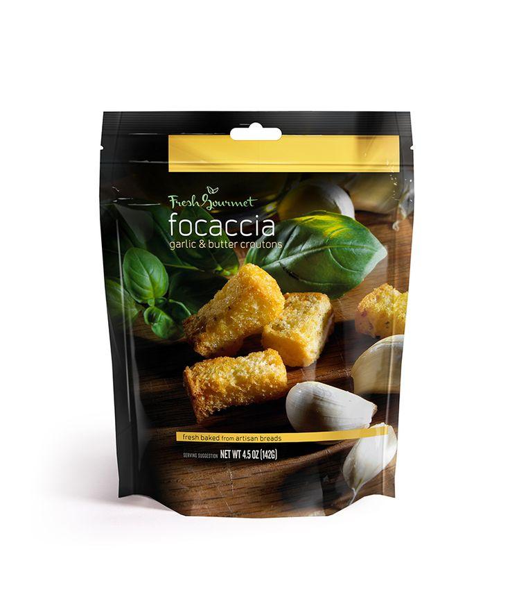 Fresh Gourmet Garlic & Butter FOCACCIA Croutons.