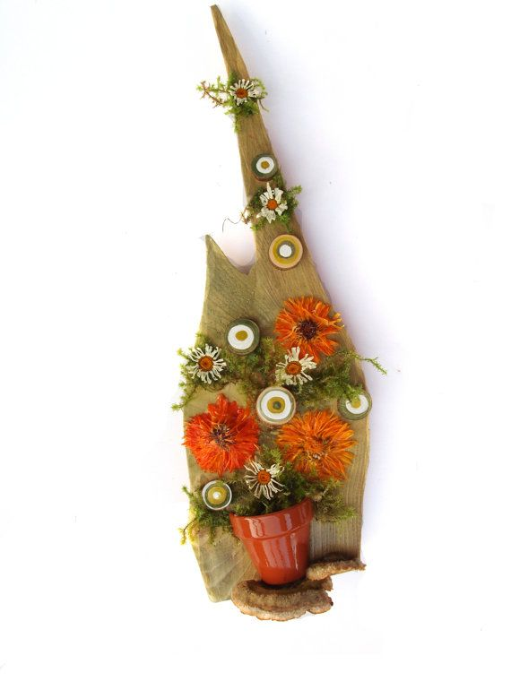Natural materials assemblage collage wall by NaturalMaterialsArt, €65.00