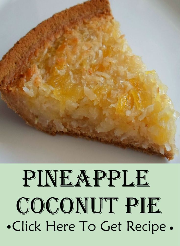 I assure you with this recipe, you shall achieve a tropical dish of pineapple coconut pie. This dessert is an appetizing finale to a delightful meal.