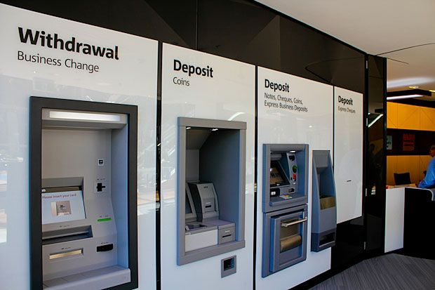 NAB - self-service banking wall