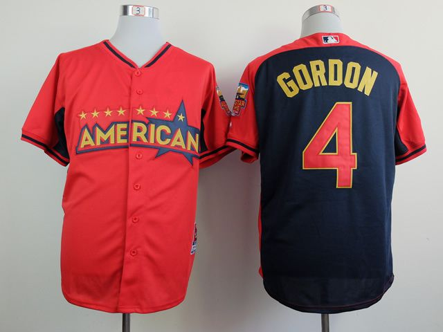 2014 MLB AMERICAN ALL STAR ROYALS #4 GORDON RED JERSEY SIZE 48,50,
