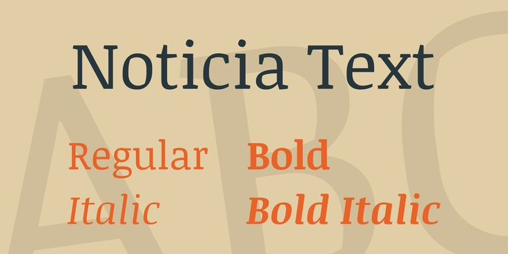 Noticia Text Font Family · 1001 Fonts