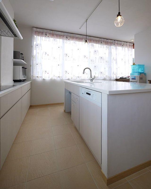 オーダーキッチンの食洗機 フレンチナチュラルスタイルの家は