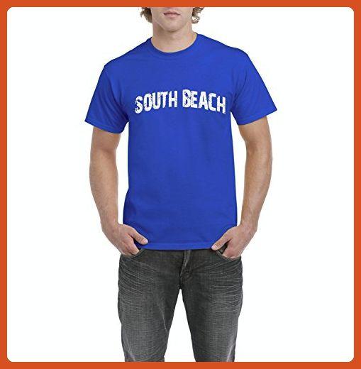 Ugo South Beach SoBe Miami Florida Map Flag Home of University of Florida UF Men's T-Shirt Tee - Cities countries flags shirts (*Partner-Link)