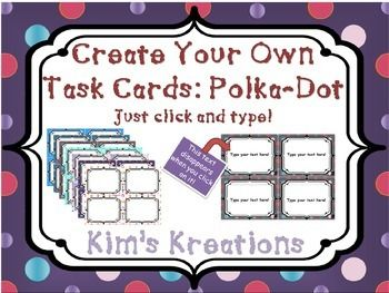 editable scoot task card template polka dots free free task card