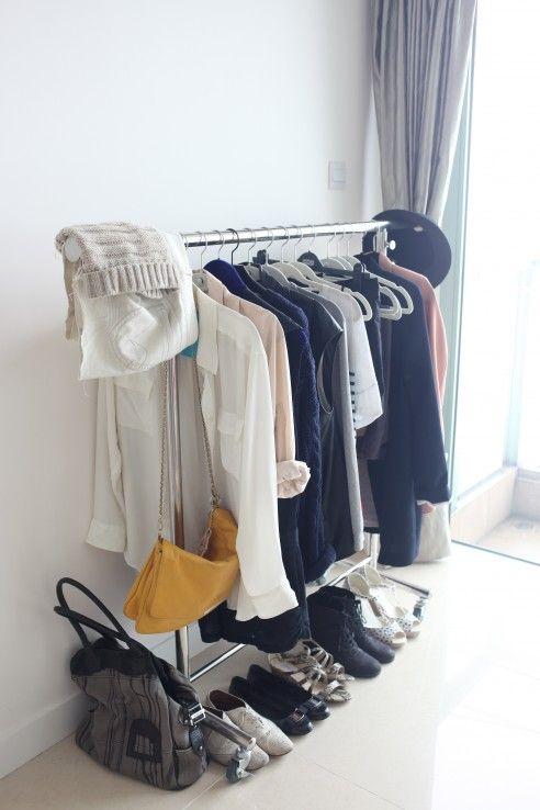 15 piece capsule wardrobe: navy, grey, white, black, pink