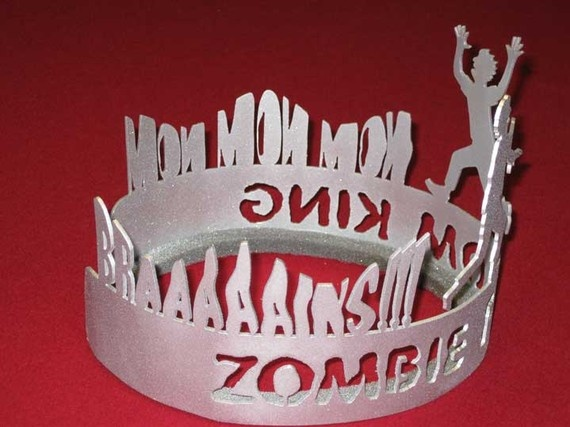 Zombie Prom King Silver Crown by zedszombieranch on Etsy, $35.00