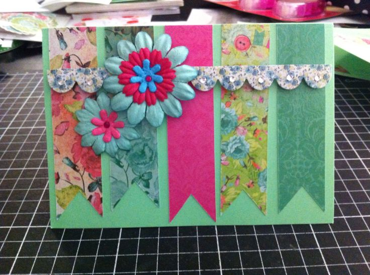 Handmade card for any occasion, using the Kaisercraft Secret Admirer collection
