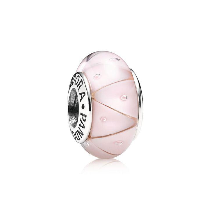 Charm in Vetro di Murano Zig-Zag Rosa - Pandora IT | PANDORA eSTO