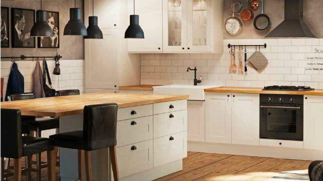 les 25 meilleures id es de la cat gorie cuisine blanche et bois sur pinterest kvik mano lave. Black Bedroom Furniture Sets. Home Design Ideas
