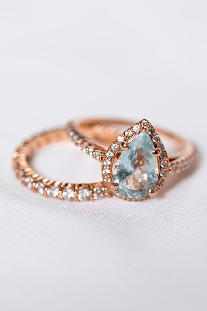 24 Rose Gold Engagement Rings That Melt Your Heart ❤ See more: http://www.weddingforward.com/rose-gold-engagement-rings/ #wedding #engagement #rings